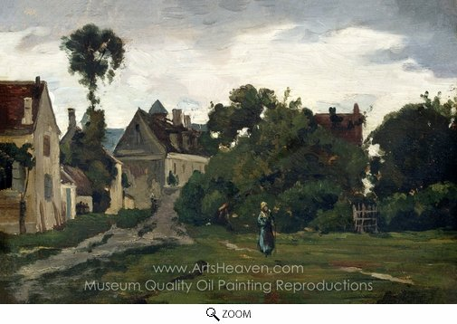 Charles Daubigny, View at Auvers-sur-Oise oil painting reproduction