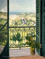 View from a Balcony painting reproduction, Albert Marquet