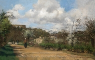 View from Louveciennes painting reproduction, Camille Pissarro