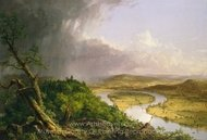 View from Mount Holyoke, Northampton, Massachusetts, after a Thunderstorm, The Oxbow painting reproduction, Thomas Cole