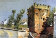 View From the Alhambra painting reproduction, William Stanley Haseltine