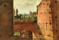View from the Colosseum toward the Palatine painting reproduction, German Painter