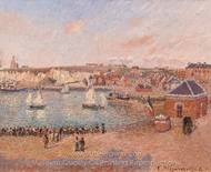 View from the Harbour in Dieppe painting reproduction, Camille Pissarro