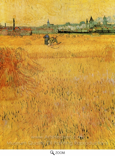 Vincent Van Gogh, View from the Wheatfield, Arles oil painting reproduction