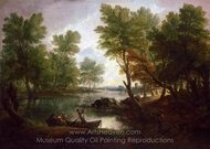 View Near King's Bromley, on Trent, Staffordshire painting reproduction, Thomas Gainsborough