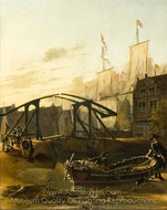View of a Harbor in Schiedam painting reproduction, Adam Pynacker