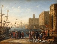 View of a Port with the Capitol by Jelly painting reproduction, Claude Lorraine