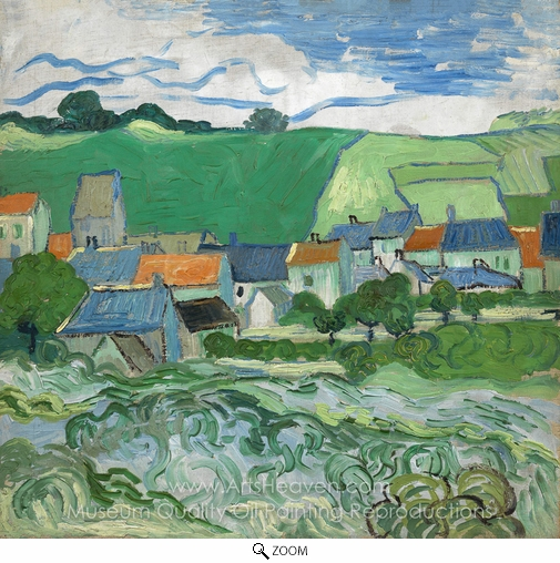 Vincent Van Gogh, View of Auvers oil painting reproduction