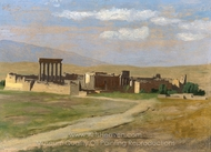 View of Baalbek painting reproduction, Jean-Leon Gerome