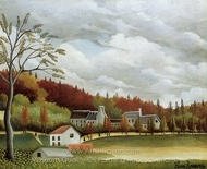 View of Bievre-sur-Gentilly painting reproduction, Henri Rousseau