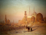 View of Cairo painting reproduction, Louis Comfort Tiffany