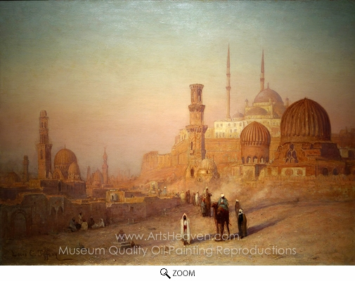 Louis Comfort Tiffany, View of Cairo oil painting reproduction