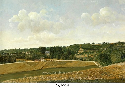 Achille-Etna Michallon, View of Chatenay oil painting reproduction