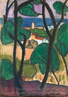 View of Collioure painting reproduction, Henri Matisse