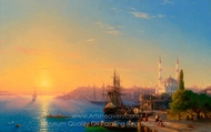 View of Constantinople and the Bosphorus painting reproduction, Ivan Aivazovskiy