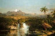 View of Cotopaxi painting reproduction, Frederic Edwin Church