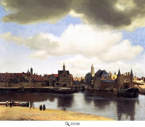 Jan Vermeer, View of Delft oil painting reproduction