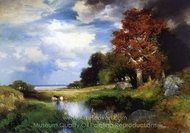 View of East Hampton painting reproduction, Thomas Moran