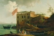 View of Gaiola painting reproduction, Pierre-Jacques Volaire