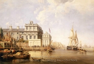 View of Greenwich Hospital from the North Bank of the Thames painting reproduction, George Chambers Senior