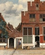 View of Houses in Delft painting reproduction, Jan Vermeer