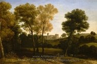 View of La Crescenza painting reproduction, Claude Lorraine