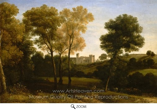 Claude Lorraine, View of La Crescenza oil painting reproduction