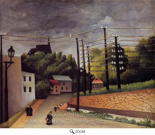 Henri Rousseau, View of Malakoff oil painting reproduction
