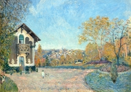 View of Marly-le-Roi from Coeur-Volant painting reproduction, Alfred Sisley