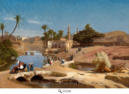 Jean-Leon Gerome, View of Medinet El-Fayoum oil painting reproduction