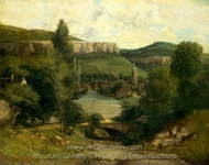 View of Ornans painting reproduction, Gustave Courbet