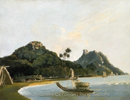 View of Part of Owharre Harbour, Island of Huahine painting reproduction, William Hodges