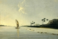 View of Part of the Island of Ulietea painting reproduction, William Hodges