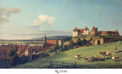 Bernado Bellotto, View of Pirna From the Sonnenstein Castle oil painting reproduction