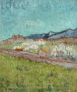 View of the Alpilles painting reproduction, Vincent Van Gogh