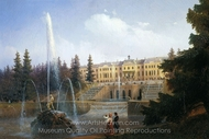 View of the Big Cascade in Petergof painting reproduction, Ivan Aivazovskiy