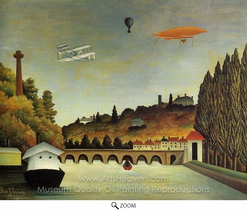Henri Rousseau, View of the Bridge at Sevres oil painting reproduction