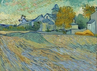 View of the Church of Saint-Paul-de-Mausole painting reproduction, Vincent Van Gogh