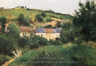 View of the Cote des Gratte-Coqs, Pontoise painting reproduction, Camille Pissarro