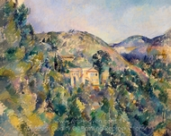 View of the Domaine Saint-Joseph painting reproduction, Paul Cézanne