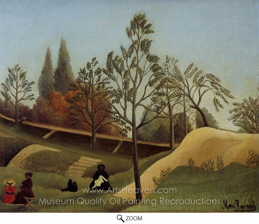 Henri Rousseau, View of the Fortifications oil painting reproduction