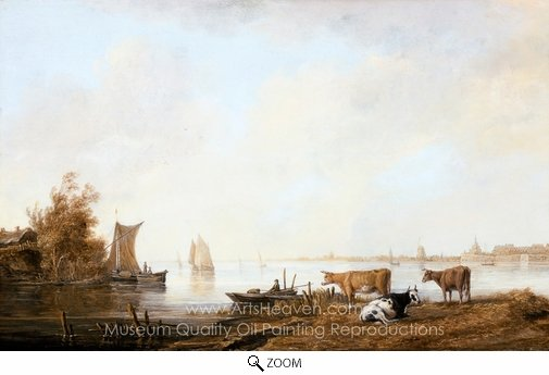 Aelbert Cuyp, View of the Maas Near Dordrecht oil painting reproduction