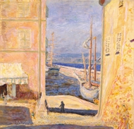 View of the Old Port, Saint-Tropez painting reproduction, Pierre Bonnard