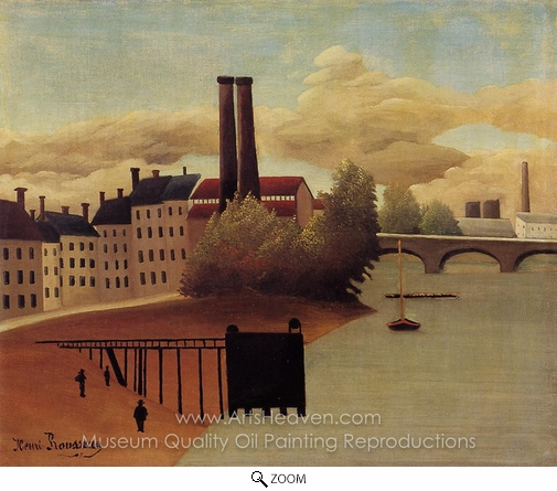 Henri Rousseau, View of the Outskirts of Paris oil painting reproduction