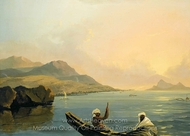 View of the Province of Oparee, Island of Otaheite painting reproduction, William Hodges