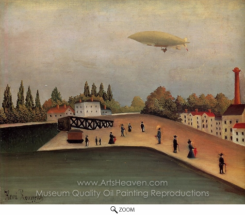 Henri Rousseau, View of the Quai d'Ovry oil painting reproduction