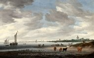 View of the River Lek and Vianen painting reproduction, Jacob Van Ruisdael
