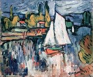 View of the Seine painting reproduction, Maurice De Vlaminck