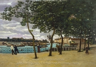 View of the Seine, Paris painting reproduction, Armand Guillaumin