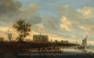 View of the Town of Alkmaar painting reproduction, Salomon Van Ruysdael